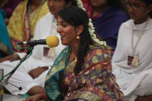 Singing, Carnatic music, devotional singing, Mathurini